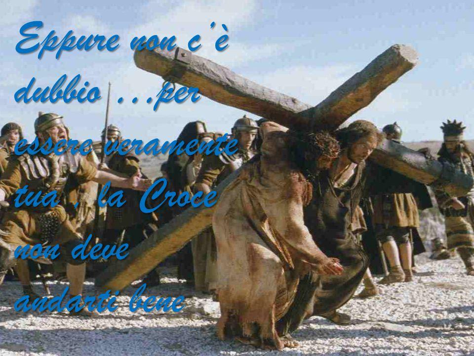 Anche a Cristo non andava bene la sua Croce.