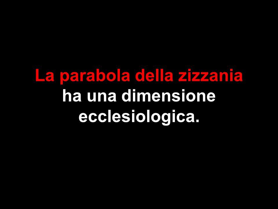 La parabola della zizzania ha una dimensione ecclesiologica.