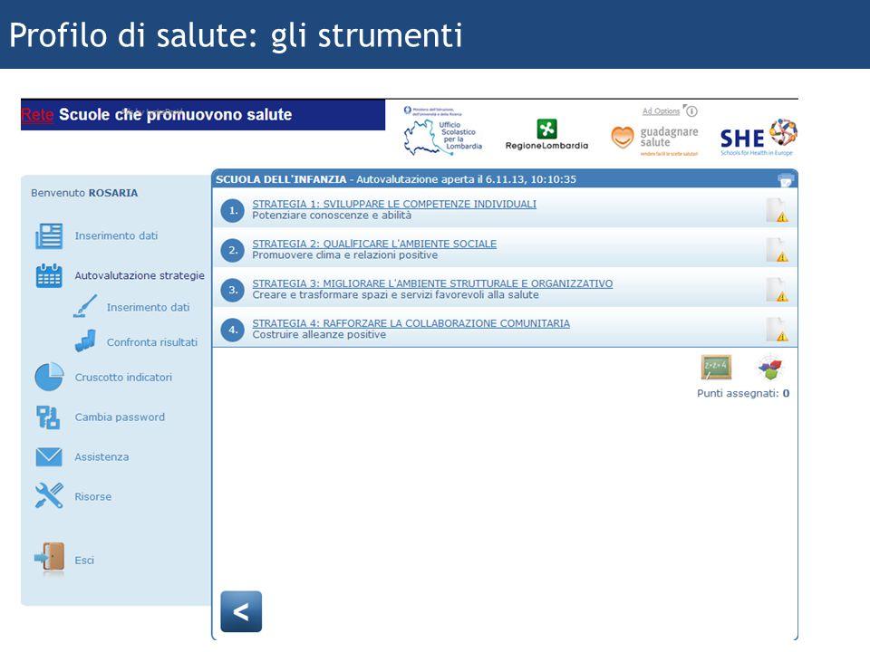 ferraboschi 2013 20 Profilo di salute: gli strumenti
