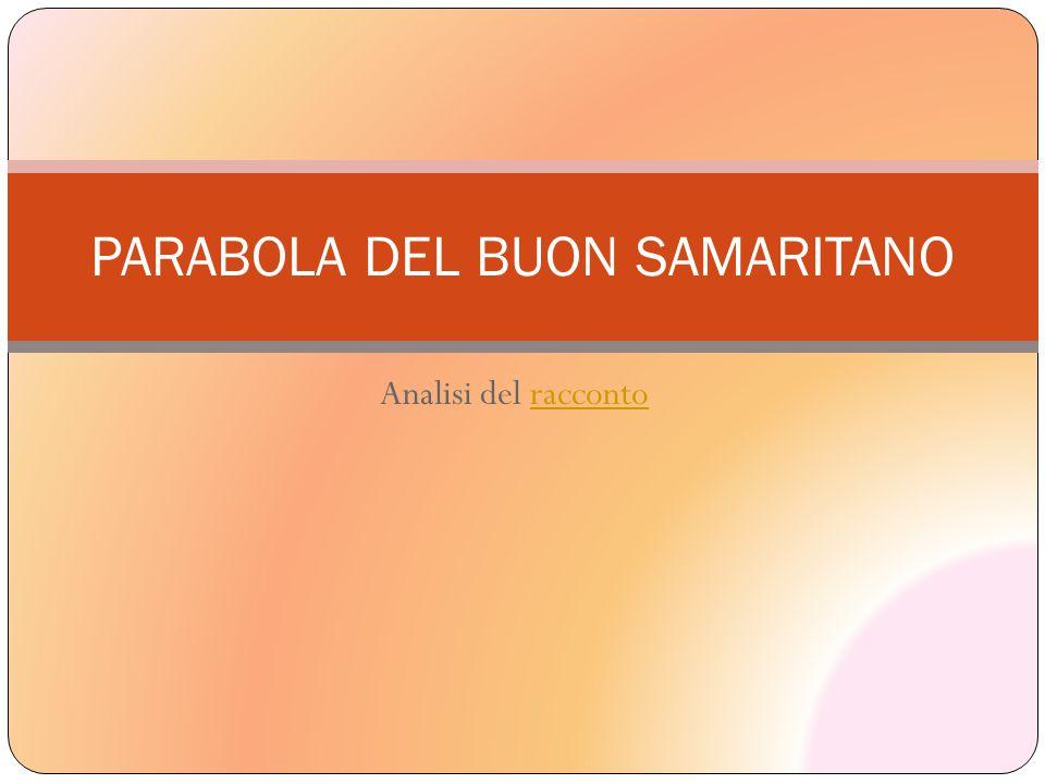 Analisi del raccontoracconto PARABOLA DEL BUON SAMARITANO
