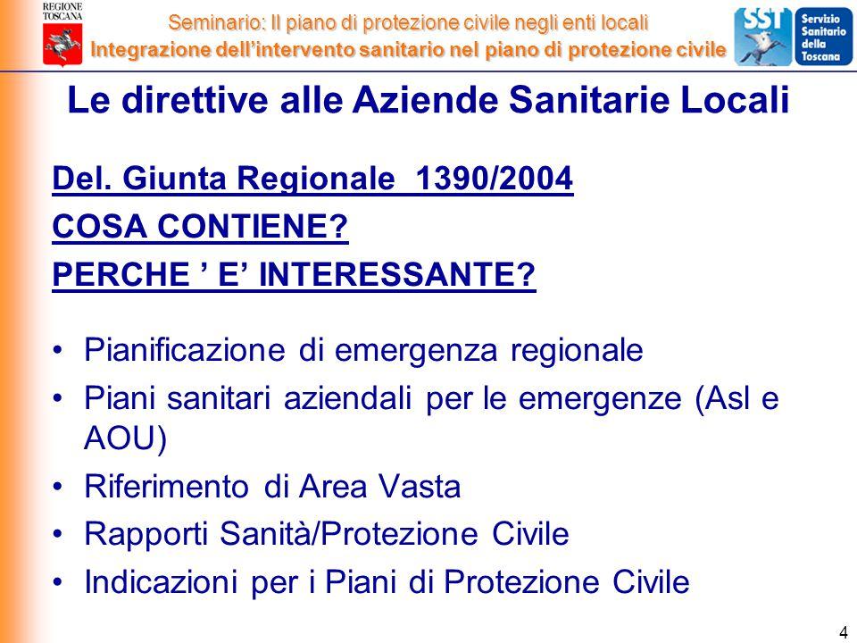 4 Del. Giunta Regionale 1390/2004 COSA CONTIENE. PERCHE ' E' INTERESSANTE.