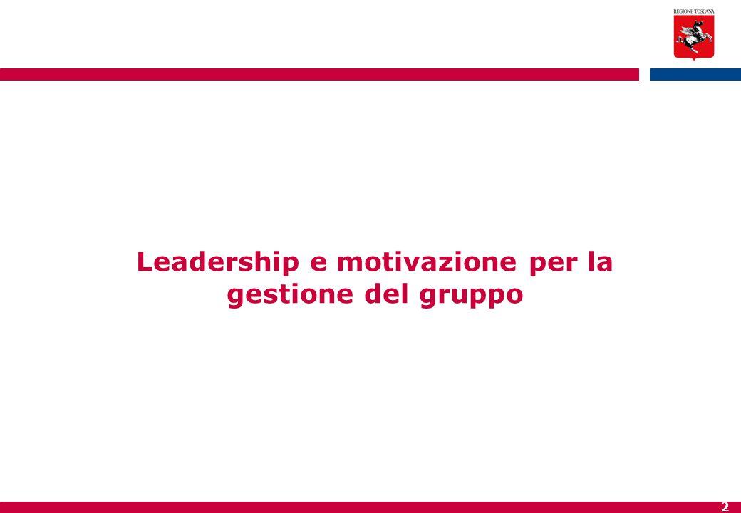 2 Leadership e motivazione per la gestione del gruppo