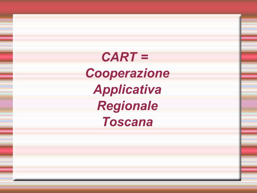 CART = Cooperazione Applicativa Regionale Toscana