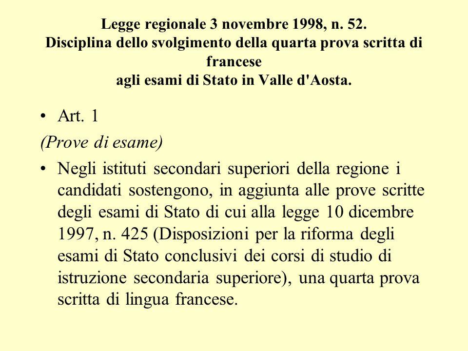 Legge regionale 3 novembre 1998, n.52.