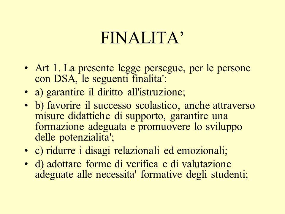 FINALITA' Art 1.