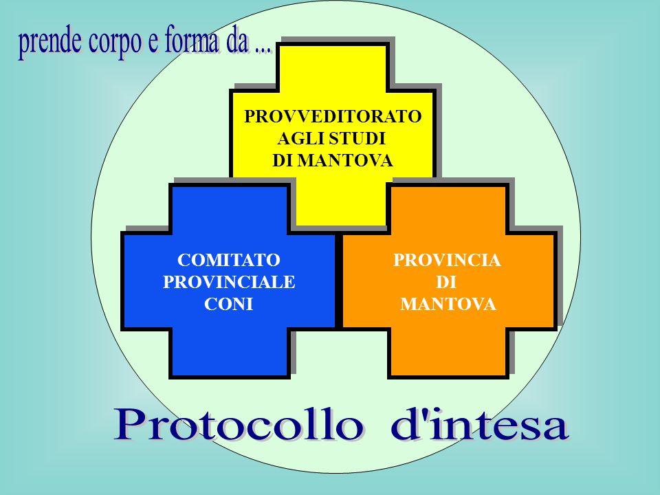 PROVVEDITORATO AGLI STUDI DI MANTOVA PROVVEDITORATO AGLI STUDI DI MANTOVA COMITATO PROVINCIALE CONI COMITATO PROVINCIALE CONI PROVINCIA DI MANTOVA PROVINCIA DI MANTOVA