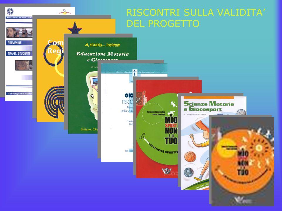 RISCONTRI SULLA VALIDITA' DEL PROGETTO Comitato Regionale