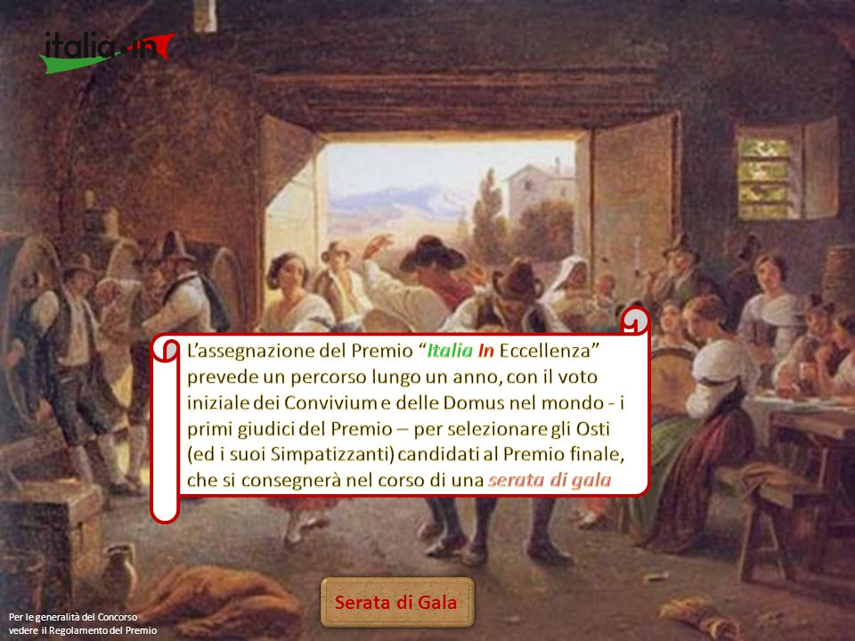 Ammissione Il Premio Italia In Eccellenza é interamente sostenuto dal Movimento con le quote dei Simpatizzanti