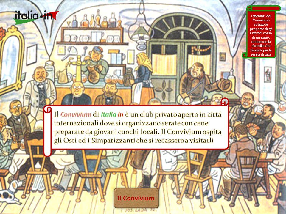 Il Convivium I membri del Convivium votano le proposte degli Osti nel corso di un anno, definendo la shortlist dei finalisti per la serata di gala