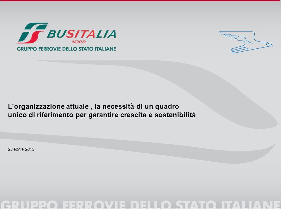 L'organizzazione attuale, la necessità di un quadro unico di riferimento per garantire crescita e sostenibilità 29 aprile 2013