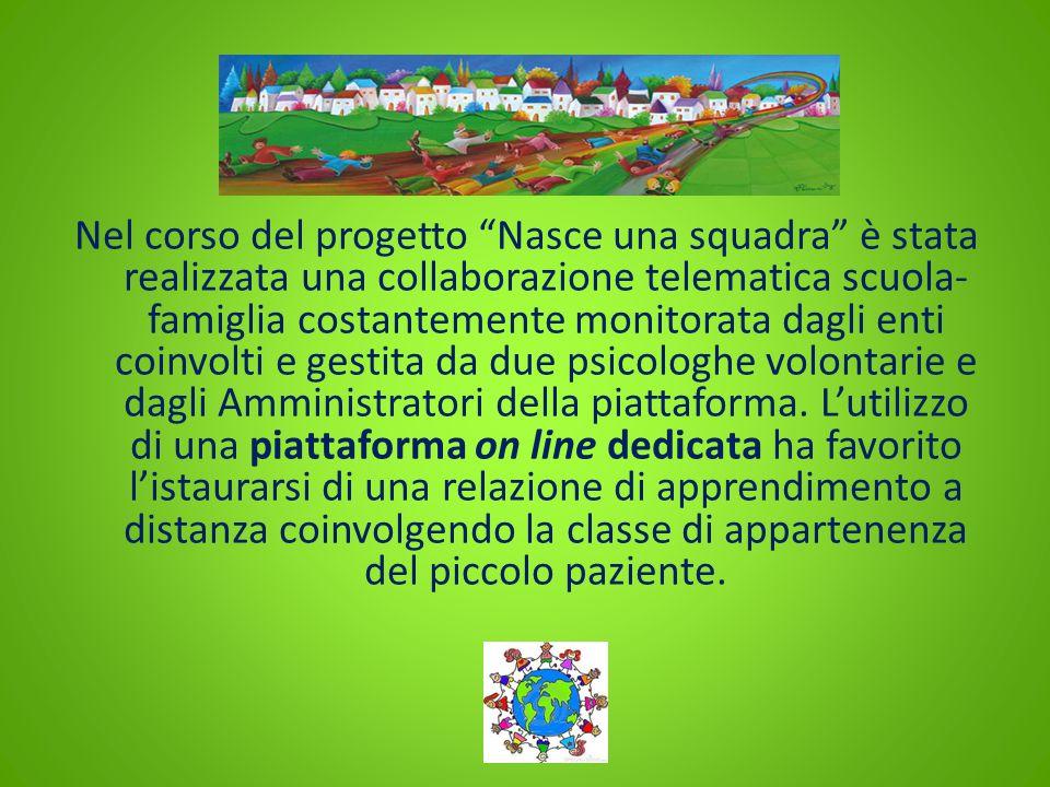 """Nel corso del progetto """"Nasce una squadra"""" è stata realizzata una collaborazione telematica scuola- famiglia costantemente monitorata dagli enti coinv"""