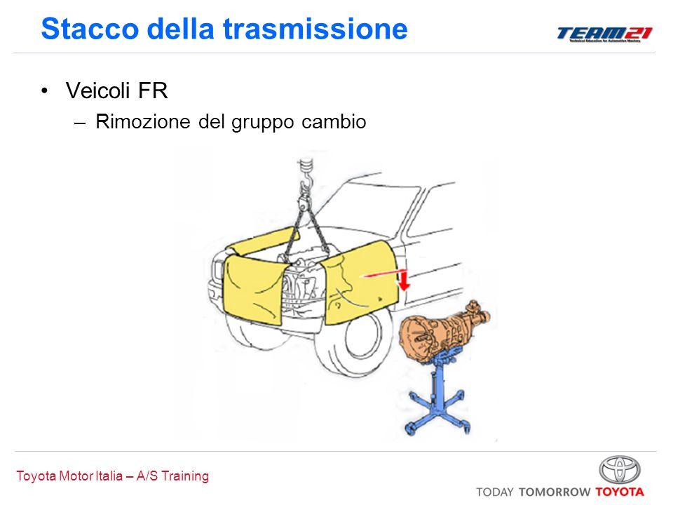 Toyota Motor Italia – A/S Training Stacco della trasmissione Veicoli FR –Rimozione del gruppo cambio