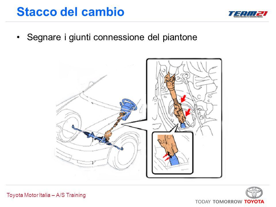Toyota Motor Italia – A/S Training Stacco del cambio Segnare i giunti connessione del piantone