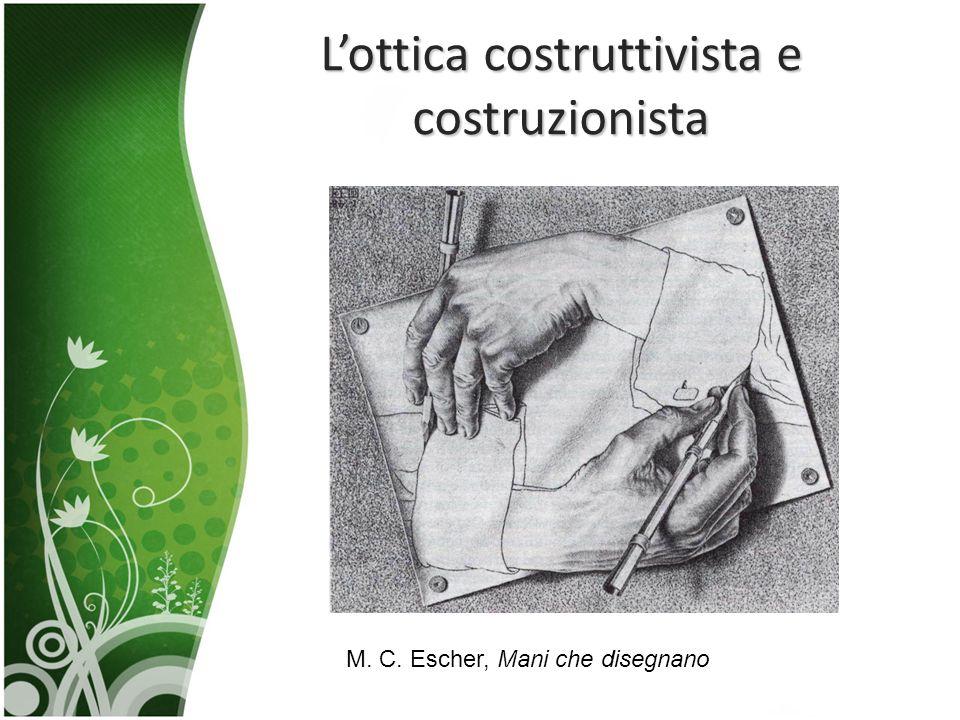L'ottica costruttivista e costruzionista M. C. Escher, Mani che disegnano