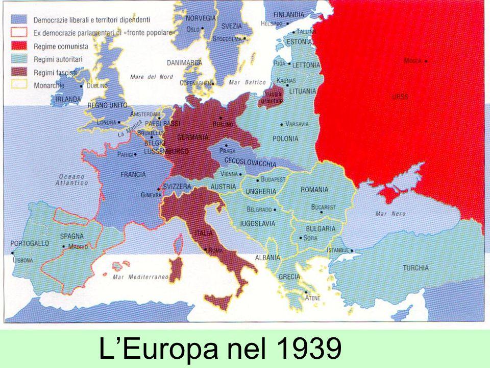Esigenza di PACE Siamo partiti dall'esigenza di pace che si creò alla fine del secondo conflitto mondiale.