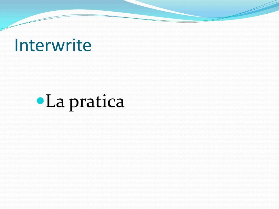 Interwrite La pratica