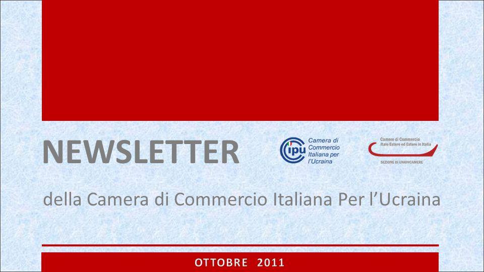 NEWSLETTER della Camera di Commercio Italiana Per l'Ucraina