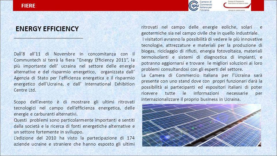 """ENERGY EFFICIENCY ______________________________ Dall'8 all'11 di Novembre in concomitanza con il Communtech si terrà la fiera """"Energy Efficiency 2011"""