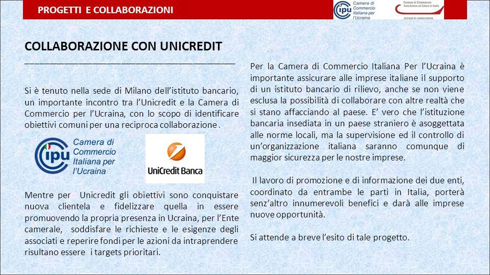 COLLABORAZIONE CON UNICREDIT ____________________________________________ Si è tenuto nella sede di Milano dell'istituto bancario, un importante incon