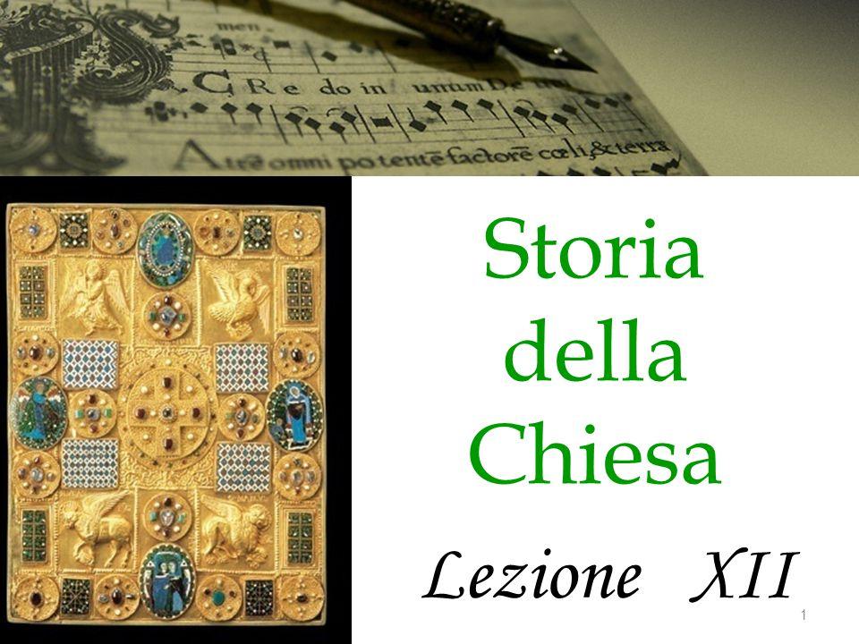 Storia della Chiesa Lezione XII 1