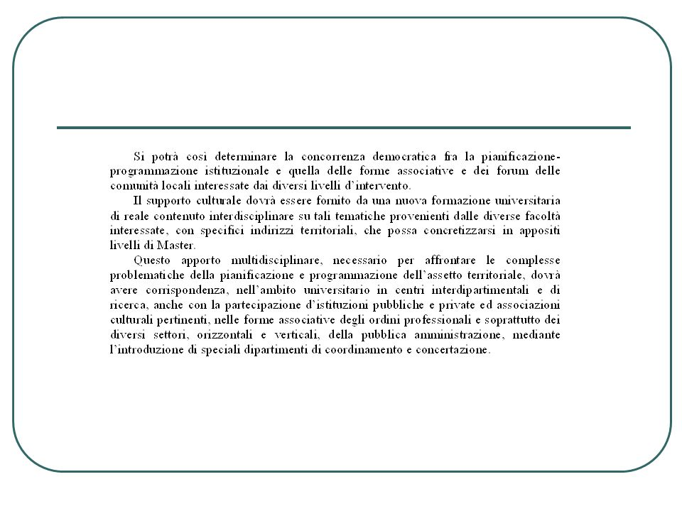Asiter - Incontro-dibattito sull'introduzione della VAS nella formazione di piani e programmi - Intervento Prof Gustavo Cecchini Considerazioni di metodo e di contenuto 1.
