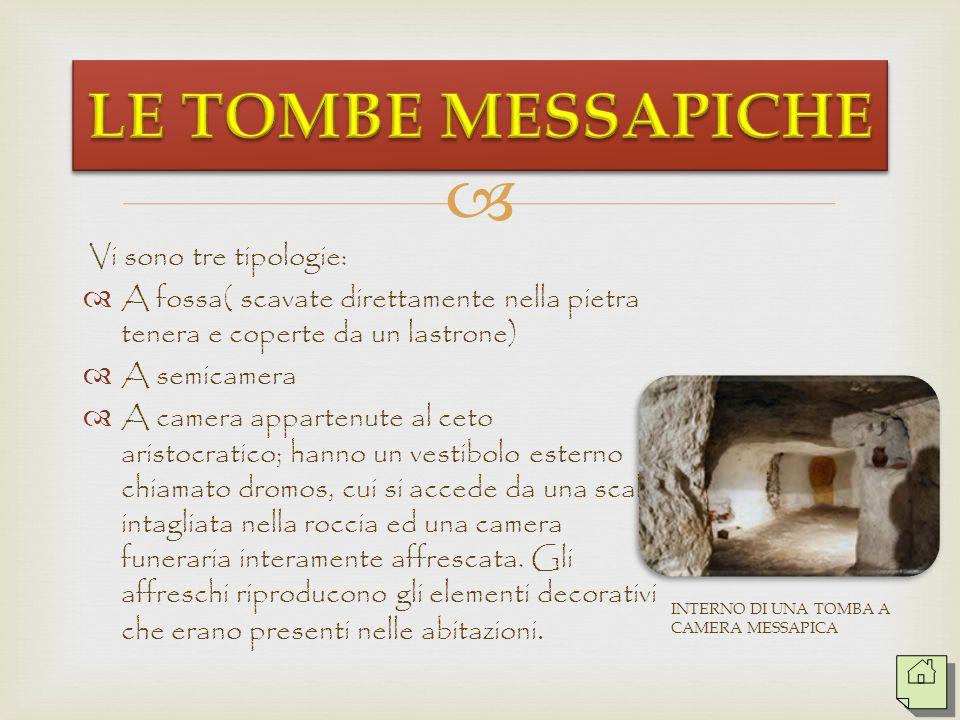   I defunti inizialmente venivano inumati e coperti da cumuli di pietra, solo dopo il VII secolo a.C. iniziarono le sepolture in tombe ipogee dette