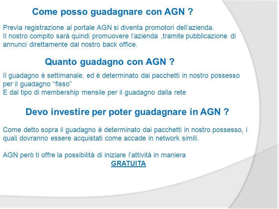 Come posso guadagnare con AGN .