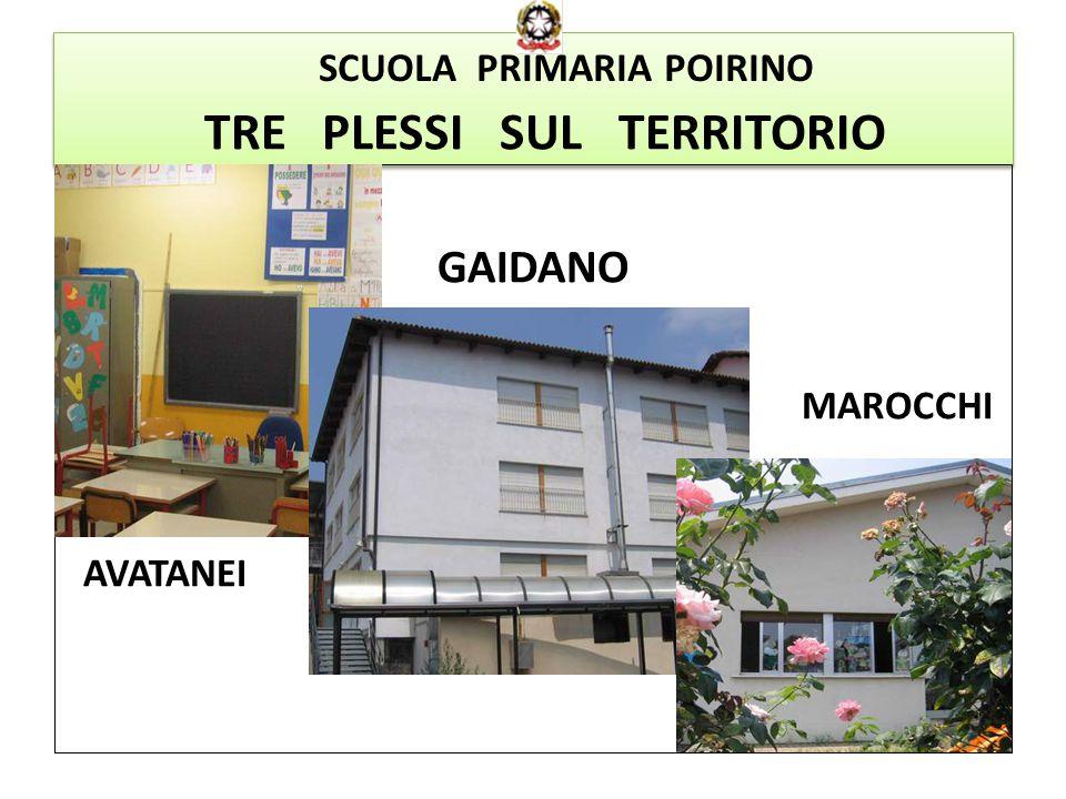 TRE PLESSI SUL TERRITORIO GAIDANO MAROCCHI AVATANEI SCUOLA PRIMARIA POIRINO