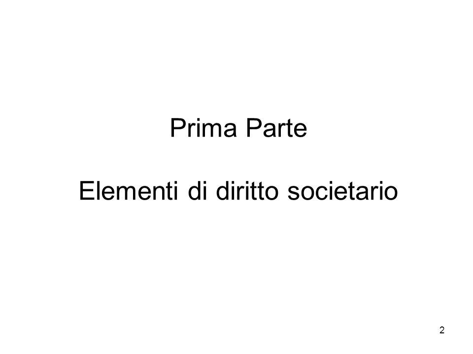 2 Prima Parte Elementi di diritto societario