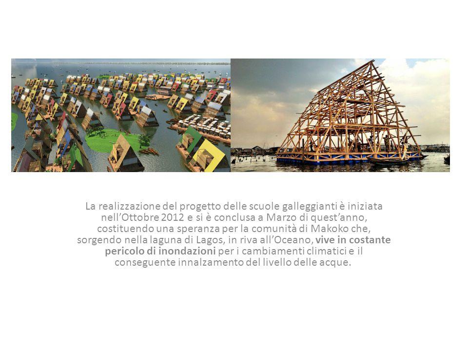 La realizzazione del progetto delle scuole galleggianti è iniziata nell'Ottobre 2012 e si è conclusa a Marzo di quest'anno, costituendo una speranza p