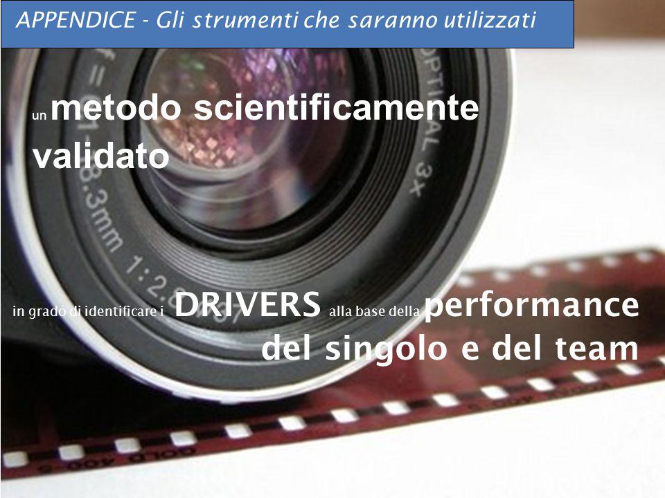 © Six Seconds APPENDICE - Gli strumenti che saranno utilizzati un metodo scientificamente validato in grado di identificare i DRIVERS alla base della