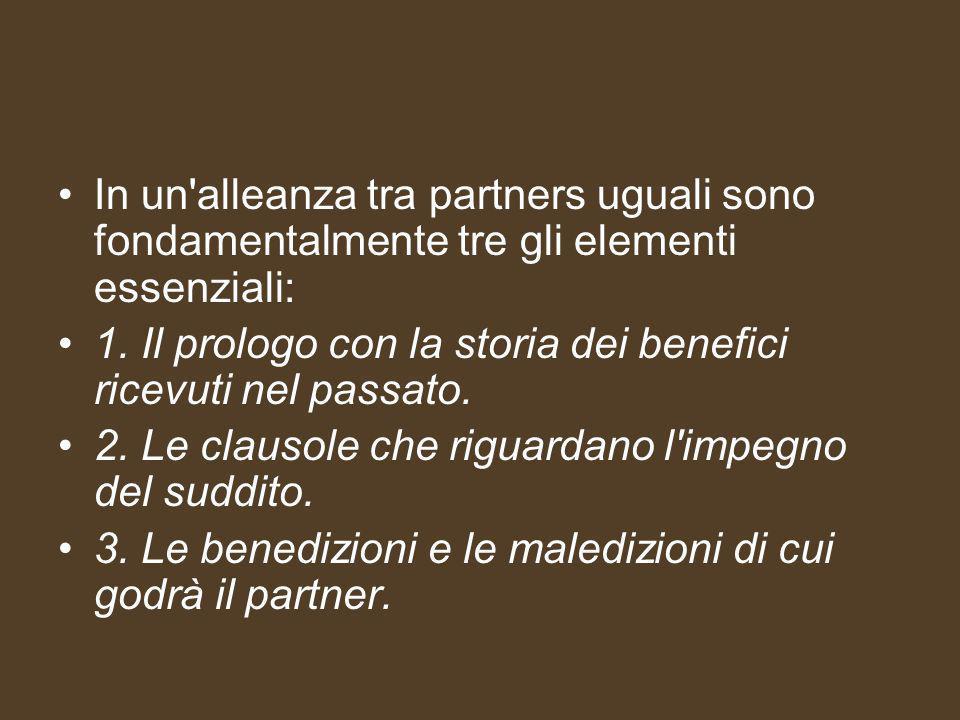 In un alleanza tra partners uguali sono fondamentalmente tre gli elementi essenziali: 1.