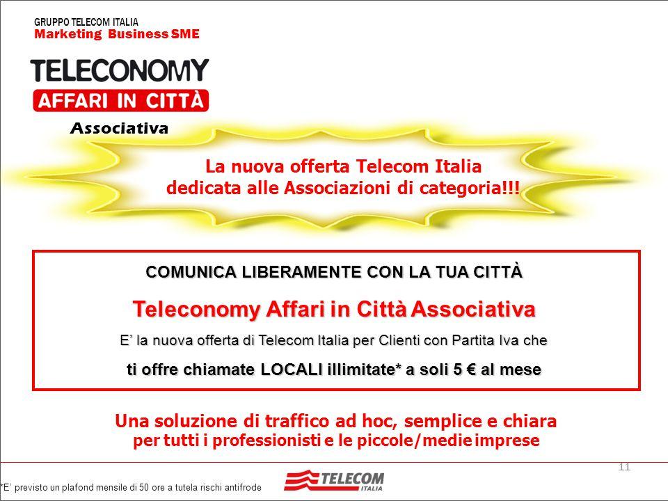 11 Marketing Business SME GRUPPO TELECOM ITALIA La nuova offerta Telecom Italia dedicata alle Associazioni di categoria!!.