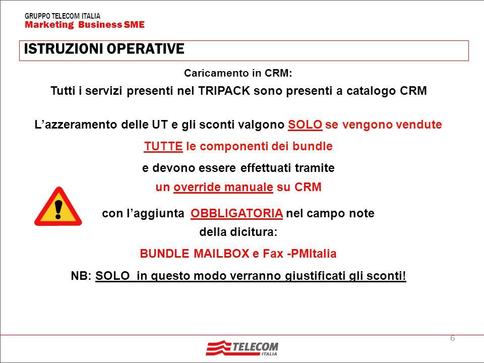 17 Marketing Business SME GRUPPO TELECOM ITALIA Prezzi in €cent al minuto, iva esclusa PREZZI (2/2) Costo al minuto delle chiamate Nessuno scatto alla risposta