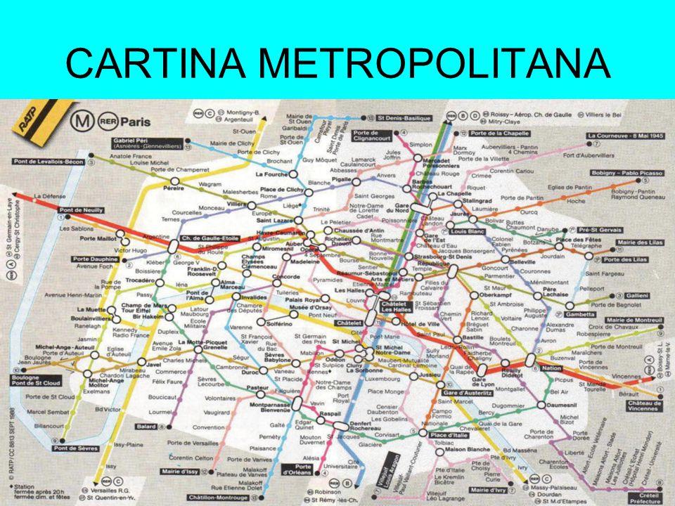 CARTINA METROPOLITANA