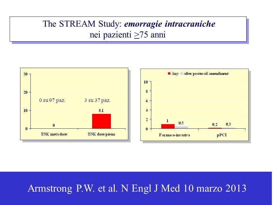 The STREAM Study: emorragie intracraniche nei pazienti >75 anni The STREAM Study: emorragie intracraniche nei pazienti >75 anni Armstrong P.W.