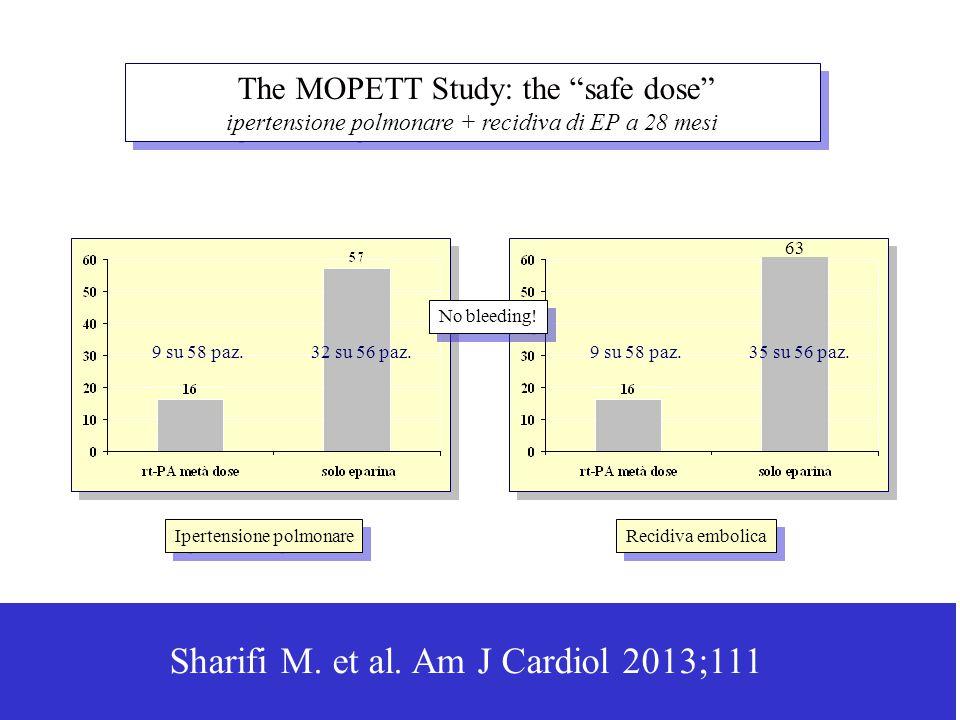 The MOPETT Study: the safe dose ipertensione polmonare + recidiva di EP a 28 mesi The MOPETT Study: the safe dose ipertensione polmonare + recidiva di EP a 28 mesi Sharifi M.