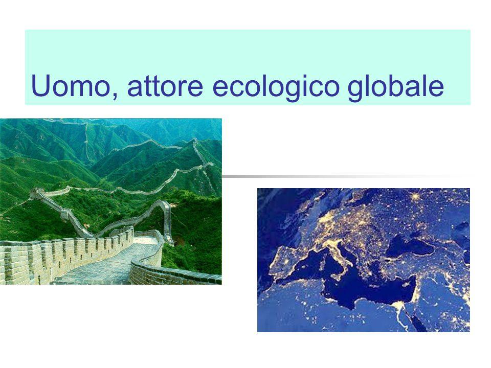 Uomo, attore ecologico globale