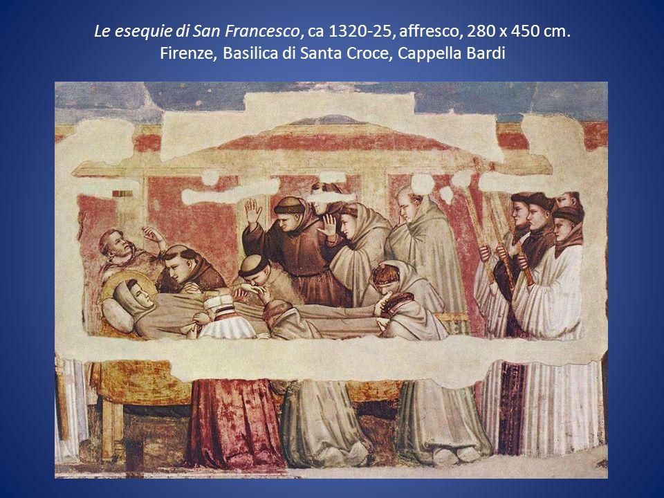 Le esequie di San Francesco, ca 1320-25, affresco, 280 x 450 cm. Firenze, Basilica di Santa Croce, Cappella Bardi