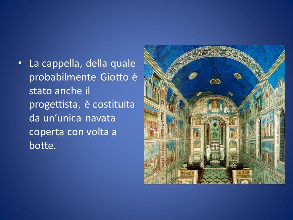 La cappella, della quale probabilmente Giotto è stato anche il progettista, è costituita da un'unica navata coperta con volta a botte.