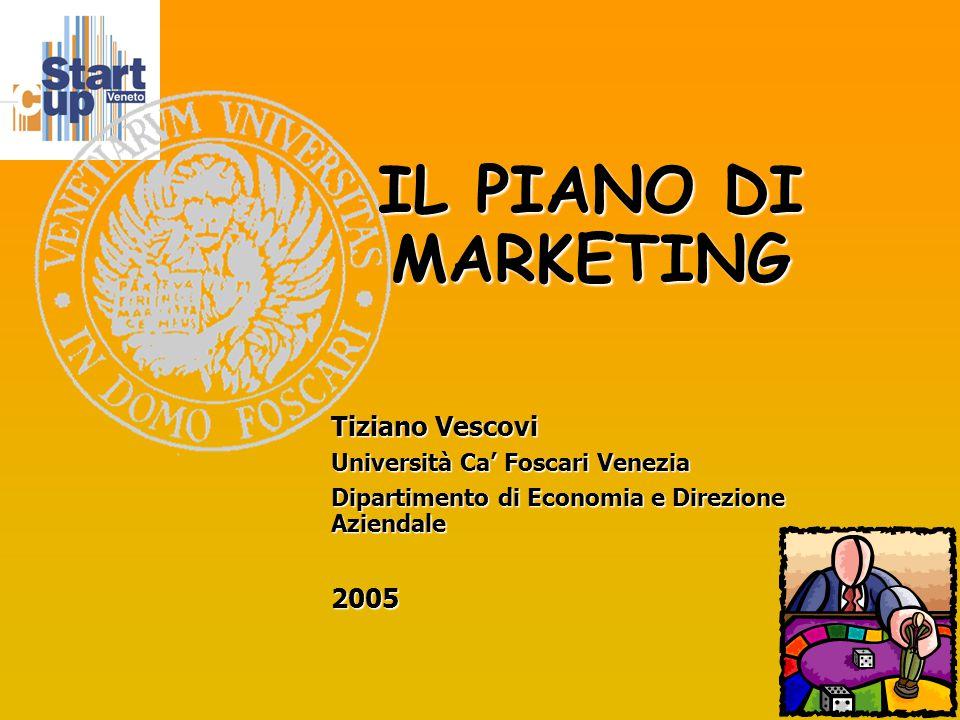 1 IL PIANO DI MARKETING Tiziano Vescovi Università Ca' Foscari Venezia Dipartimento di Economia e Direzione Aziendale 2005