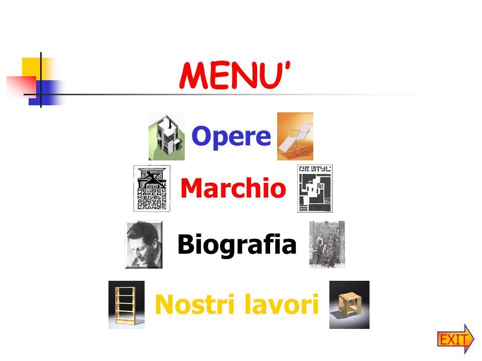 MENU' Biografia Opere Nostri lavori Marchio EXIT