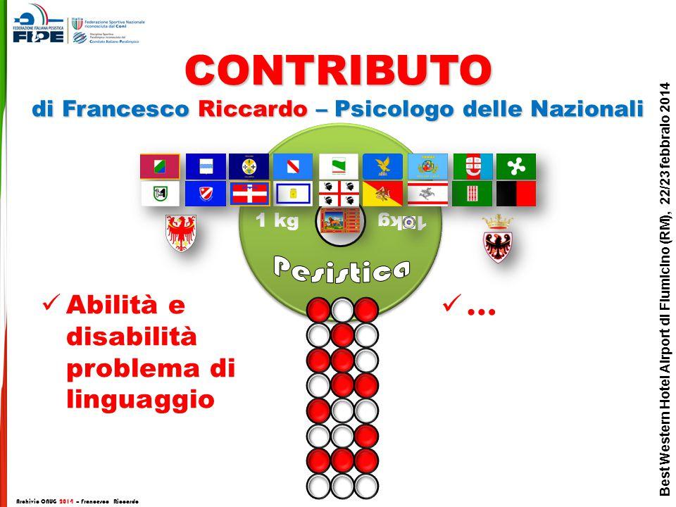 1 kg Archivio CNUG 2014 – Francesco Riccardo Abilità e disabilità problema di linguaggio … Best Western Hotel Airport di Fiumicino (RM), 22/23 febbrai