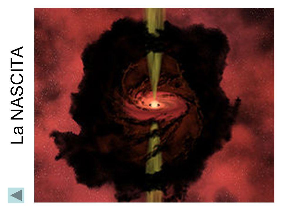 Quando nel nucleo della protostella si raggiungono i 10 7 K si innescano le reazioni di fusione termonucleare dell'H in He.