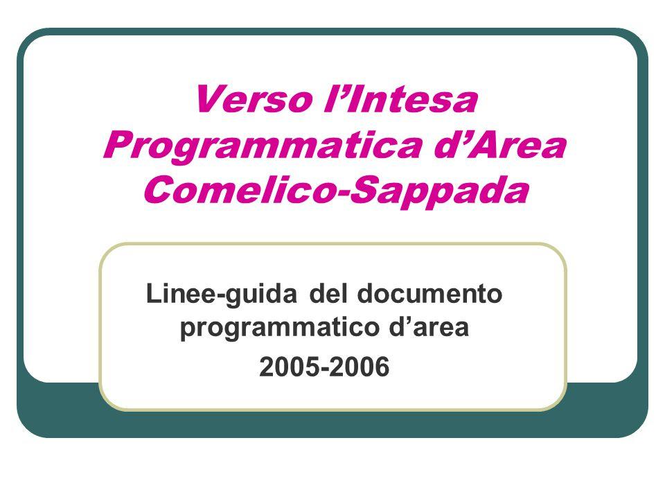 Verso l'Intesa Programmatica d'Area Comelico-Sappada Linee-guida del documento programmatico d'area 2005-2006