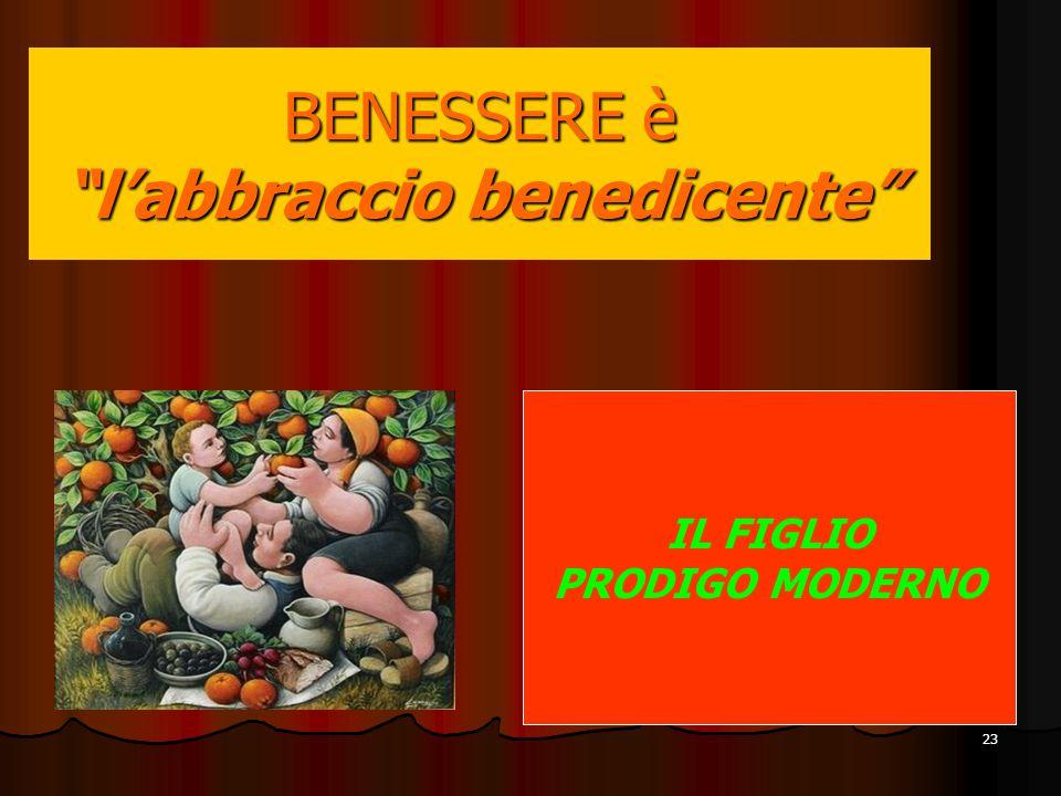 """23 IL FIGLIO PRODIGO MODERNO BENESSERE è """"l'abbraccio benedicente"""""""
