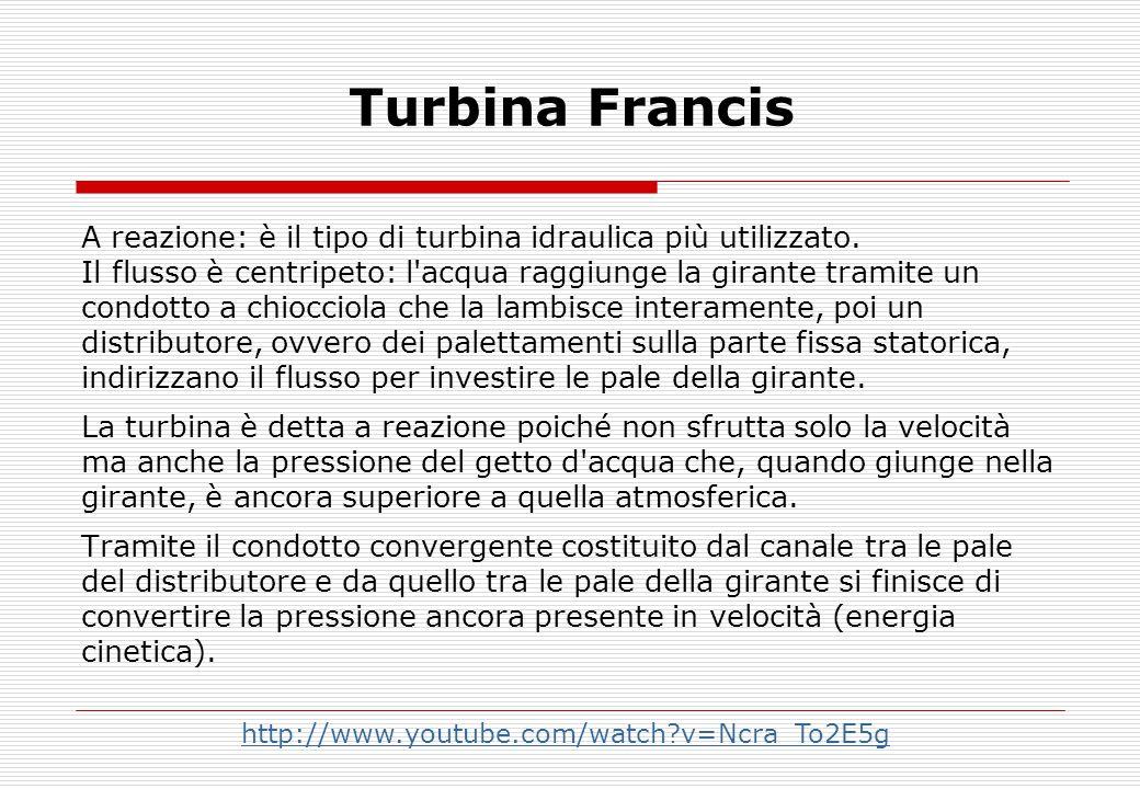 Turbina Francis A reazione: è il tipo di turbina idraulica più utilizzato.