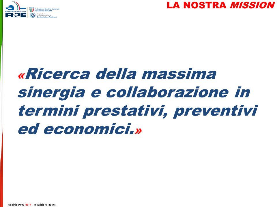 « Ricerca della massima sinergia e collaborazione in termini prestativi, preventivi ed economici.