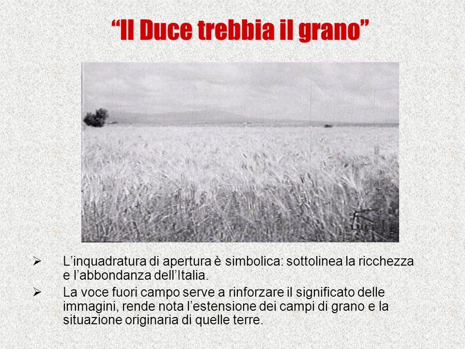  L'inquadratura di apertura è simbolica: sottolinea la ricchezza e l'abbondanza dell'Italia.