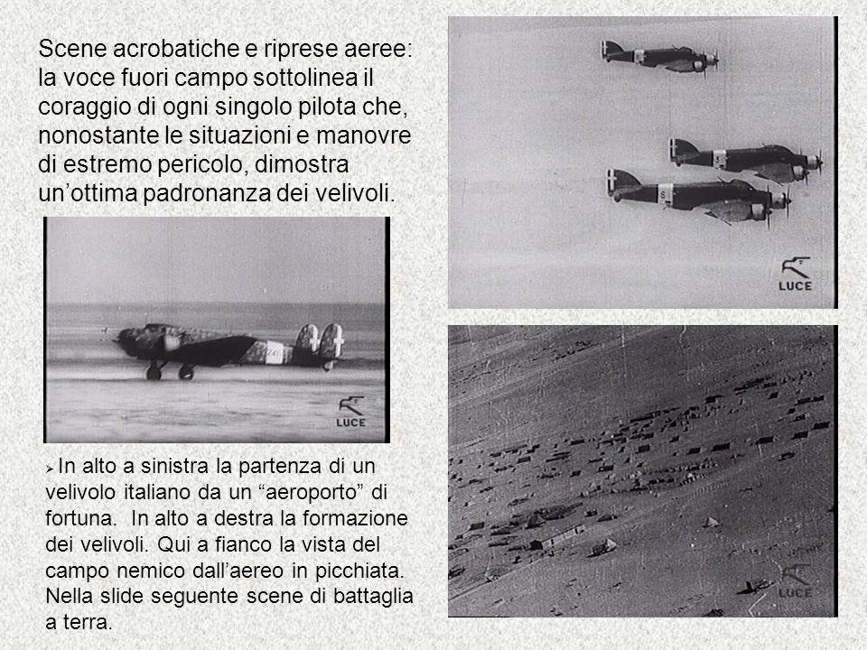 Scene acrobatiche e riprese aeree: la voce fuori campo sottolinea il coraggio di ogni singolo pilota che, nonostante le situazioni e manovre di estrem